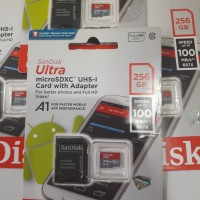SanDisk Ultra MicroSDXC 256GB UHS-1 Speed 100MB/s Card With Adapter