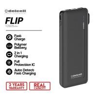 Delcell Flip Powerbank 10500mAh Original Resmi Delcell