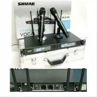 Mic Wireless Shure GLX 99 GLX99 Black Hitam UHF multi channel 4