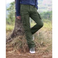 Cargo Green Olive Variation ( 2 in 1 Short Pants / Long Pants)