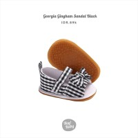 Hey Baby Georgia Gingham Sandal (Black)