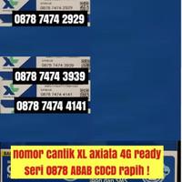 kartu perdana XL axiata 4G ready nomer cantik ABAB CDCD rapih obral
