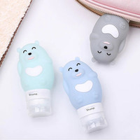 Botol Tempat Refill Lotion/Shampo/Condi Silicon Beruang 80 ml K221