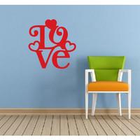 Stiker cutting Wall Love Stiker Dinding Kaca Hiasan rumah D13