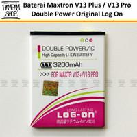 Baterai Log On Double Power Original Maxtron V13 PLUS PRO V13+ Batre