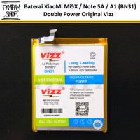 Baterai Vizz Double Power Original XiaoMi BN31 Redmi Mi5X Note 5A A1