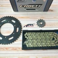 Gear set DID Ninja R25 / MT25 Cemeti Drago 520 - 120 Gold Oring