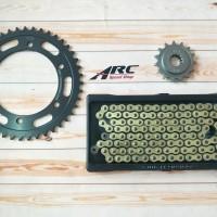 Gear set DID CBR 250 RR / CBR250RR Cemeti Drago 520 - 120 Gold Oring