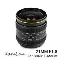 Lensa Kamlan 21mm F/1.8 For Mirrorless Sony E-Mount