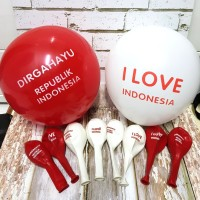 Balon Latex Dirgahayu RI/ Balon I Love Indonesia/ Balon HUT RI