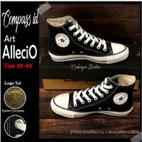Sepatu Compass ALECIO Black White