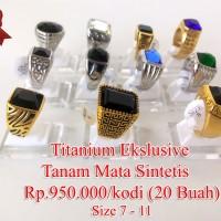 Lanka 20 buah Ikatan / emban / Ring Cincin Titanium Eklsklu