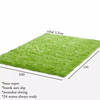Karpet bulu 100x150 tebal 3.5cm bahan terbaik
