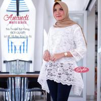 grosir atasan anandi white series blouse bruklat