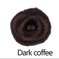 ikat rambut ikal dari rambut Synthetic Donut Roller Hairpieces