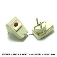 Steker + Saklar Meiko - 16-250 VAC - Stok Lama