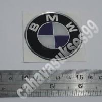 Stiker Motor BMW Bulat 5,7cm Stiker Body Tangki Motor Moge Resin Tebal