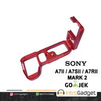 L Plate A7II A7RII A7SII Mark 2 Lplate Hand Grip Bricket Merah