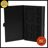 Metal Aluminium 8 Micro SD + 1 SD Card Storage Box TERLARIS