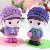 Dekorasi Mobil Ornament Cute Small Couple