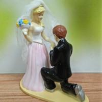 TOPPERS KUE / WEDDING CAKE / HIASAN PAJANGAN BAHAN FIBER PMCIUMTANGAN