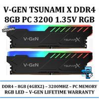 RAM V-GEN TSUNAMI X RGB DDR4 8GB (4GBx2) PC 3200 CL 16-18-18-36 1.35V
