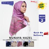 Jilbab Segiempat Nunaya Hazel Maxmara Motif 2 By Azzura - Kerudung Ori