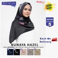 Jilbab Segiempat Nunaya Hazel Maxmara Motif 5 By Azzura - Kerudung Ori