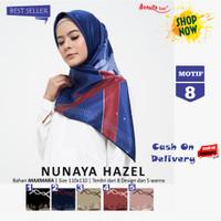 Jilbab Segiempat Nunaya Hazel Maxmara Motif 8 By Azzura - Kerudung Ori