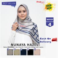 Jilbab Segiempat Nunaya Hazel Maxmara Motif 4 By Azzura - Kerudung Ori