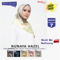 Jilbab Segiempat Nunaya Hazel Maxmara Motif 7 By Azzura - Kerudung Ori