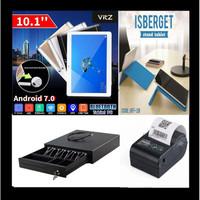Paket Android Kasir - Tablet/stand/ printer/cash drawler D3shop