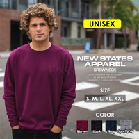 Sweatshirt Crewneck polos New States Apparel 9000 Import Original