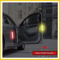 Stiker Mobil Reflektor LED 2 Pcs Waterproof Car Safety Door Tahan Air