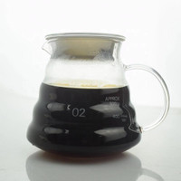 V60 COFFEE SERVER / SERVER KOPI GLASS POUR OVER 360ML