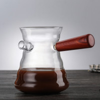 V60 COFFEE SERVER / SERVER BOROSILICATE GLASS 800ML MOTIF BIJI KOPI