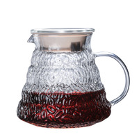 V60 COFFEE SERVER / SERVER BOROSILICATE GLASS 600ML MOTIF BIJI KOPI
