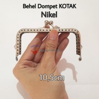 Behel Dompet Kotak 10,5cm Nikel Silver / Frame Tas / Kiss Clasp