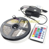 Lampu Led Meteran Warna Warni + Remote Universal