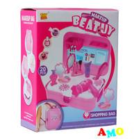 BEAUTY MAKE UP BAG PINK 2093A - MAINAN ANAK MAKE UP SET