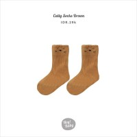 Hey Baby Catty Socks Brown