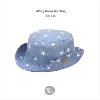 Hey Baby Starry Bucket Hat Blue