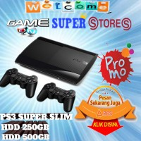 PS3 PS 3 SUPERSLIM hdd500gb + 2stik + game