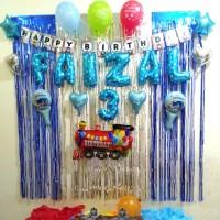 Paket Dekor Happy Birthday Thomas/ Paket Dekorasi Thomas/ Hiasan Bday