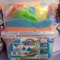 Mainan Pasir Kinetik/ Modeling Sand 1kg/ Mainan Edukasi/ Pasir Ajaib