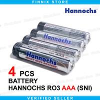 Hannochs RO3 Battery Baterai AAA / A3 Extra Heavy Duty - 4 PCS
