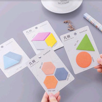 Post-It / Sticky Notes / Memo Lucu Motif Bentuk Geometris (20 Lembar)