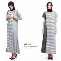 Baju Muslim Gamis Long Dress Hamil Dan Menyusui Wilona