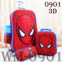 Tas Troli Anak Spiderman 3D 4 IN 1- 0901