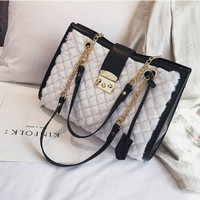 Tas Import 88961 Putih Wanita Handbag Suede Fashion Shoulder bag murah